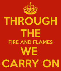When you're going through the fire…