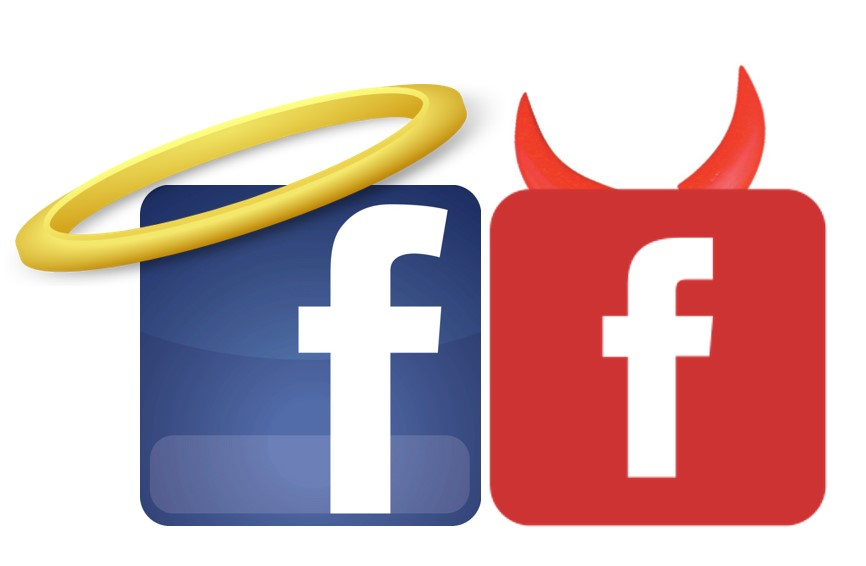 fb logo good and evil