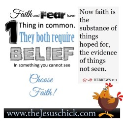 What Fear and Faith have in Common