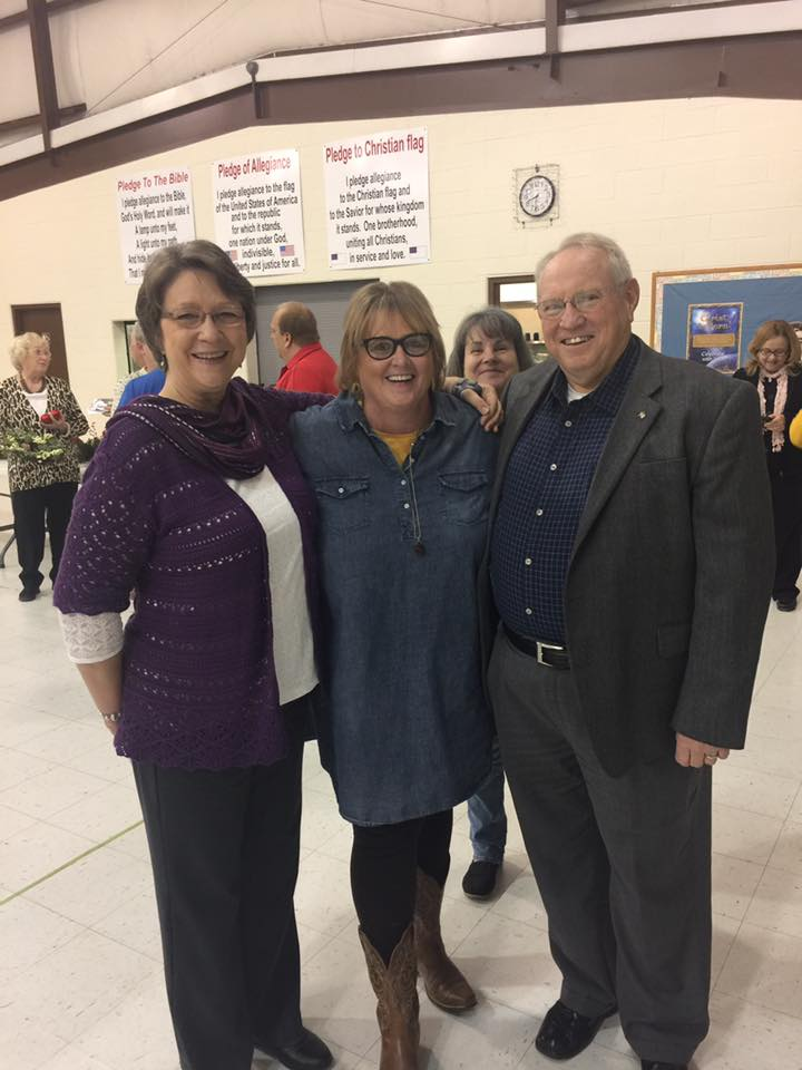 The Jesus Chick Attending the Calhoun County Christian Fellowship Dinner at Brooksville Baptist Church with Chuck and Rosemary McDonald